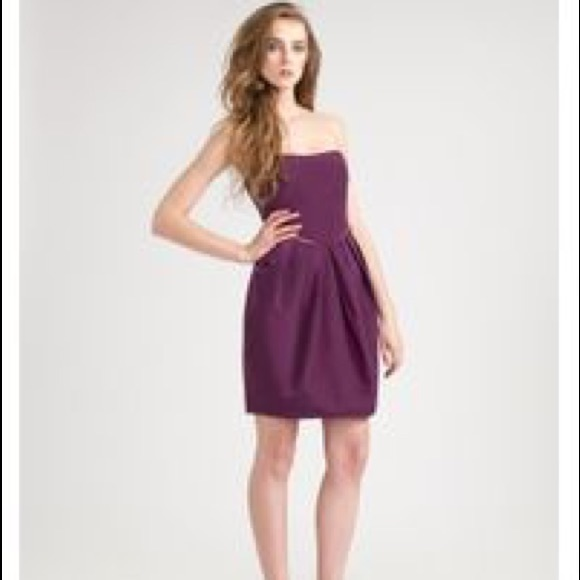 85be259902 See by Chloe Purple Strapless Dress